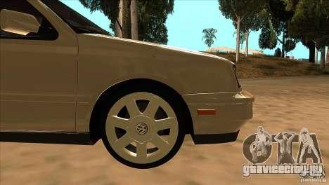 Volkswagen Golf MK3 VR6 для GTA San Andreas вид сверху