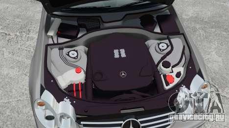 Mercedes-Benz CLK 55 AMG Stock для GTA 4 вид изнутри
