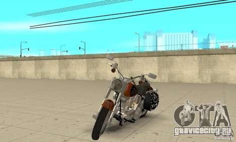 Harley Davidson FLSTF (Fat Boy) v2.0 Skin 2 для GTA San Andreas