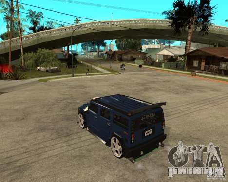 AMG H2 HUMMER Jvt HARD exclusive TUNING для GTA San Andreas вид слева