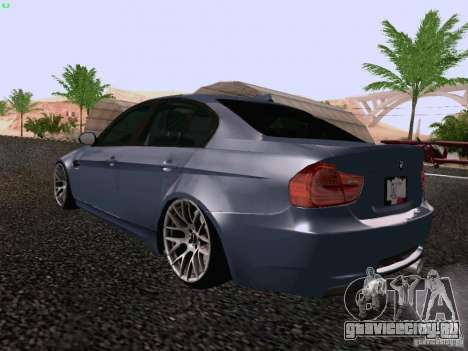 BMW M3 E90 Sedan 2009 для GTA San Andreas вид сзади слева