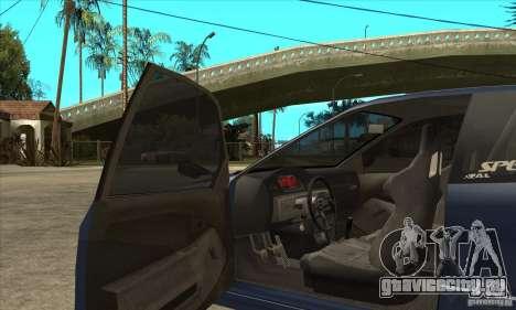 Honda Civic EG6 для GTA San Andreas вид изнутри
