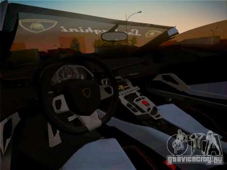 Lamborghini Aventador LP700-4 Roadstar для GTA San Andreas салон