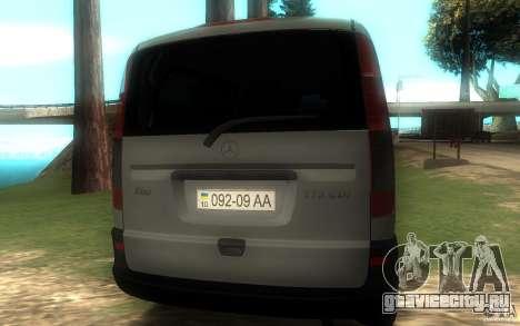 Mercedes-Benz Vito 2007 для GTA San Andreas вид сзади