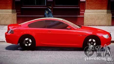 BMW M6 Orange-Black Bullet для GTA 4 вид сбоку