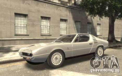 Alfa Romeo Montreal 1970 для GTA 4 вид сзади