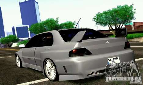 Mitsubishi Lancer Evo VII для GTA San Andreas вид слева