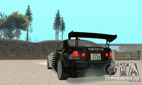 Lexus IS300 Drift Style для GTA San Andreas вид слева