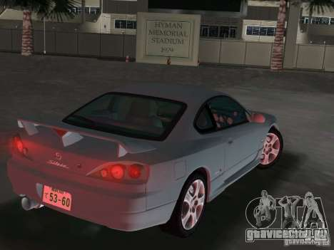 Nissan Silvia spec R Light Tuned для GTA Vice City вид сзади слева