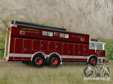 Pierce Walk-in SFFD Heavy Rescue для GTA San Andreas вид сверху