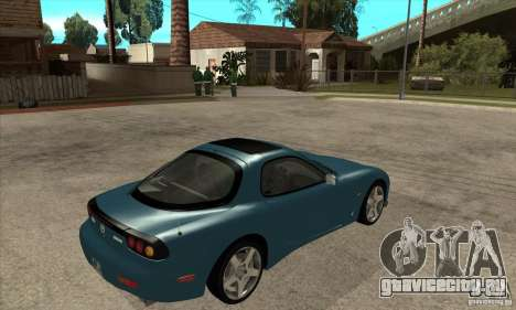 Mazda RX-7 - Stock для GTA San Andreas вид справа