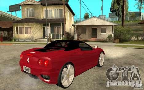 Ferrari 360 Spider для GTA San Andreas вид справа