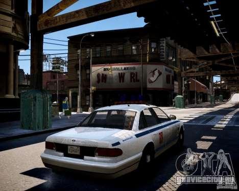Russian Police Cruiser для GTA 4 вид сзади слева