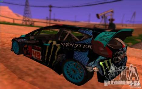 Ford Fiesta H.F.H.V. Ken Block 2013 для GTA San Andreas вид слева