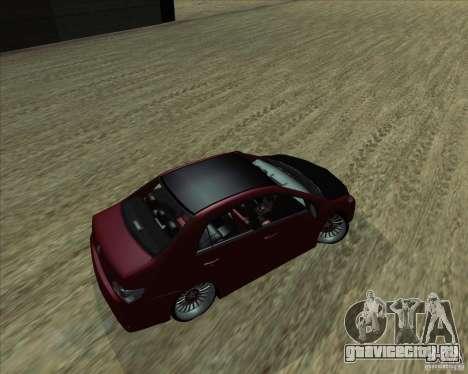 Toyota Corolla 2008 Tuning для GTA San Andreas вид слева