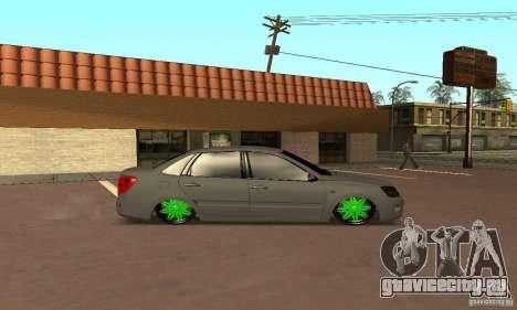 Lada Granta Dag Style для GTA San Andreas вид сзади слева