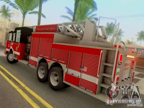 Pierce Tower Ladder 54 Chicago Fire Department для GTA San Andreas вид сзади слева