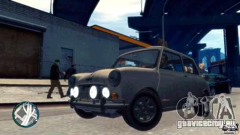 Mini Cooper S для GTA 4 вид сзади