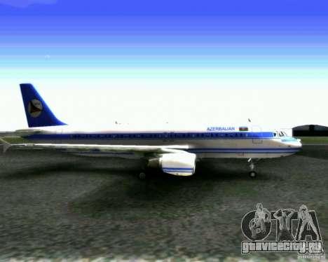 Airbus A-320 Azerbaijan Airlines для GTA San Andreas вид сзади слева