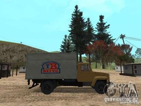 ГАЗ 3309 CR v2 для GTA San Andreas вид слева