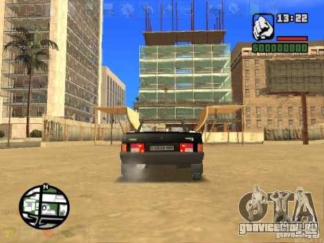 ВАЗ 2108 Кабриолет для GTA San Andreas вид сзади слева