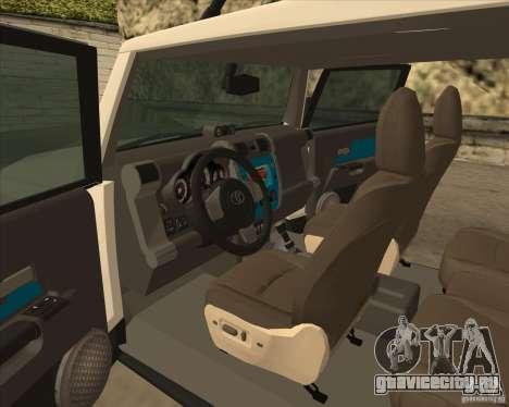 Toyota FJ Cruiser для GTA San Andreas вид сбоку