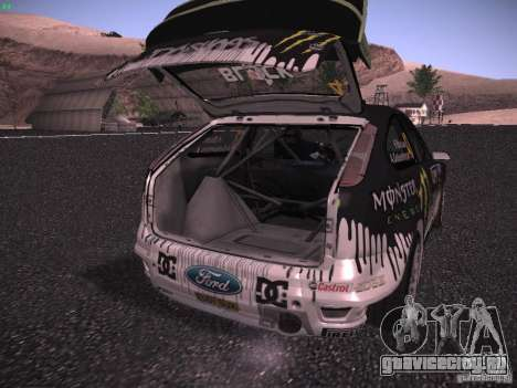 Ford Focus RS Monster Energy для GTA San Andreas вид сбоку