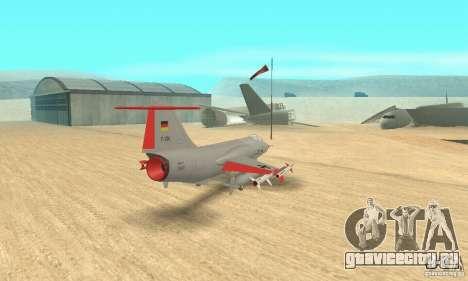 F-104 Super Starfighter(серого цвета) для GTA San Andreas вид слева