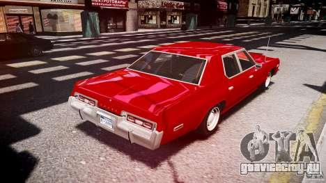 Dodge Monaco 1974 stok rims для GTA 4 вид сбоку