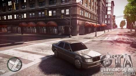 Mercedes Benz W124 E500 для GTA 4 вид сзади слева
