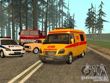 ГАЗ 32217 Реанимация для GTA San Andreas вид сзади