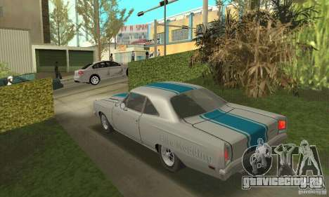 Plymouth Roadrunner 383 для GTA San Andreas вид изнутри
