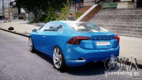 Volvo S60 Concept для GTA 4 вид сзади слева