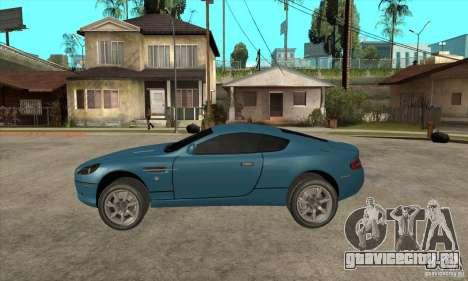 Aston Martin DB9 из NFS MW для GTA San Andreas вид слева