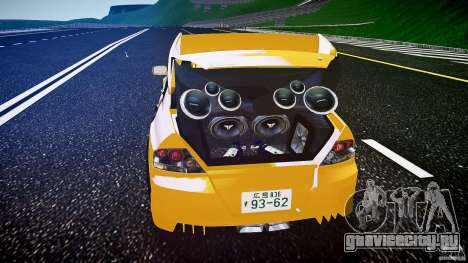 Mitsubishi Lancer Evolution для GTA 4 вид снизу