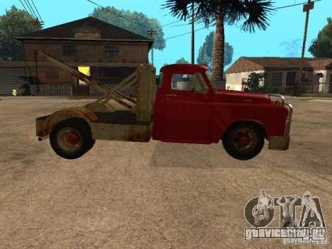 Dodge тягач ржавый для GTA San Andreas вид изнутри