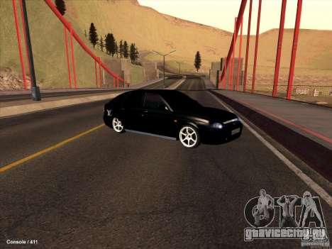 Lada 2170 Priora для GTA San Andreas вид сверху