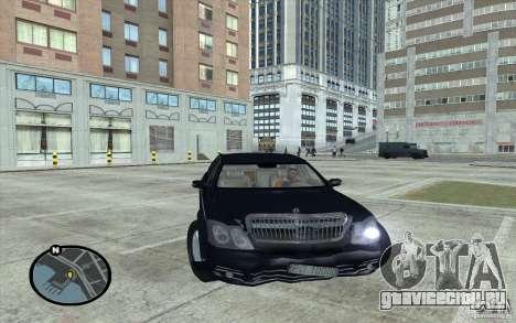 Maybach 62 для GTA San Andreas вид справа