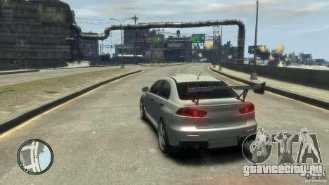 Mitsubishi Lancer Evo X Drift для GTA 4 вид сзади