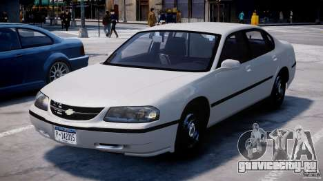 Chevrolet Impala Unmarked Police 2003 v1.0 [ELS] для GTA 4 вид сзади