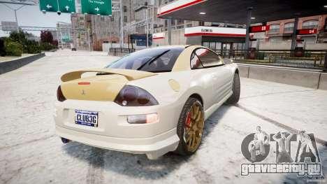 Mitsubishi Eclipse GTS Coupe для GTA 4 вид сзади слева