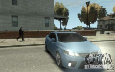 Kia Forte Koup SX для GTA 4 вид сзади