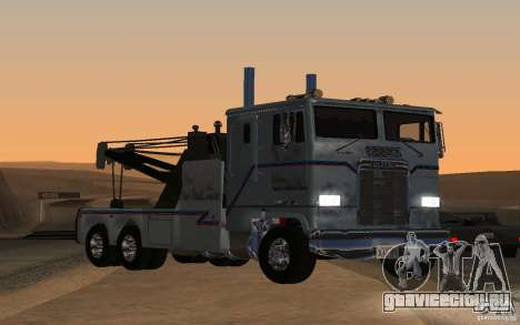 Kenworth K100 Towtruck для GTA San Andreas вид сзади слева