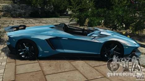 Lamborghini Aventador J 2012 v1.2 для GTA 4 вид слева