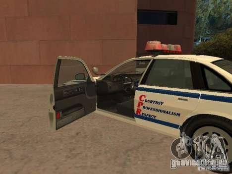 Полиция из гта4 для GTA San Andreas вид сзади