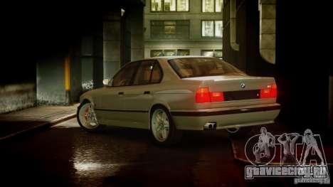 BMW M5 (E34) 1995 v1.0 для GTA 4 вид сзади слева