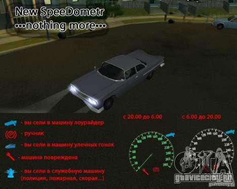 Speedometer nothing more для GTA San Andreas