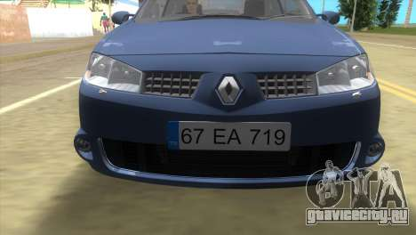 Renault Megane Sport для GTA Vice City вид слева
