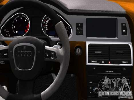 Audi Q7 V12 TDI Quattro Final для GTA 4 салон