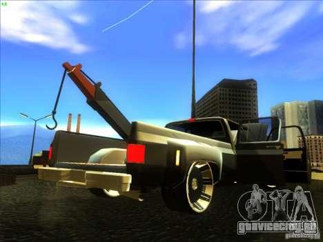 Chevrolet Silverado Towtruck для GTA San Andreas вид сзади